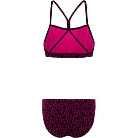 speedo Boomstar Allover Bikini de 2 Piezas Mujer, negro/rosa